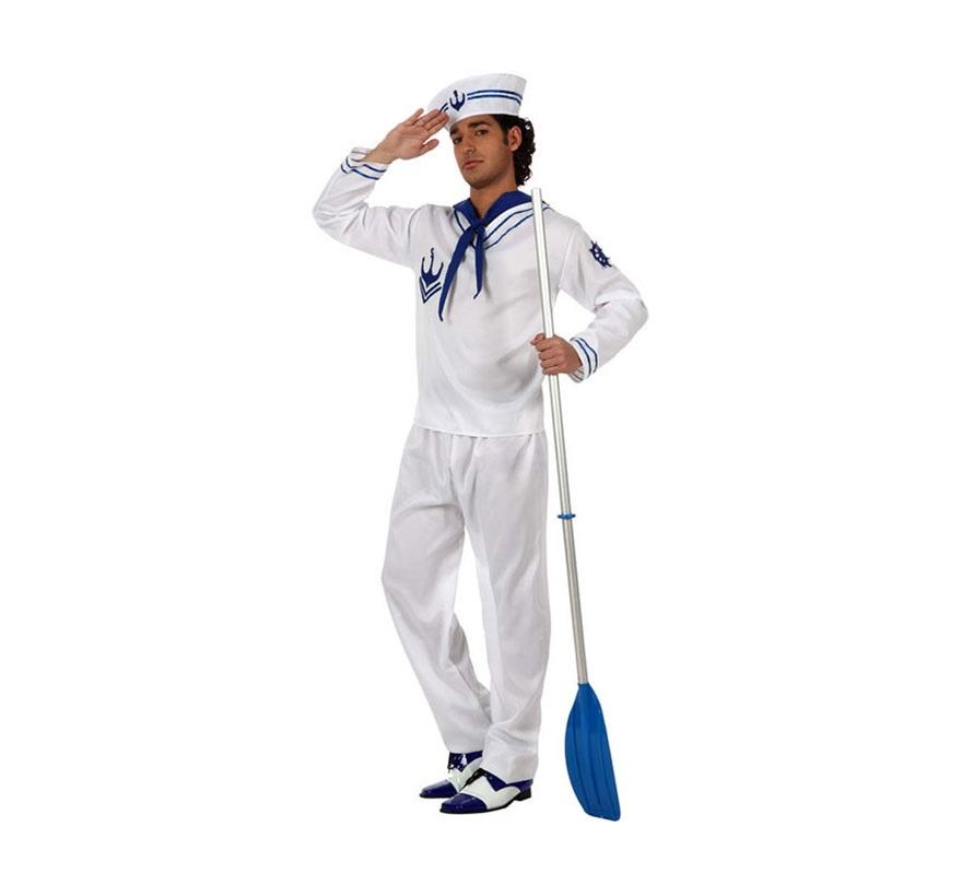 Disfraz de marinero blanco para hombre - Disfraz de marinero casero ...