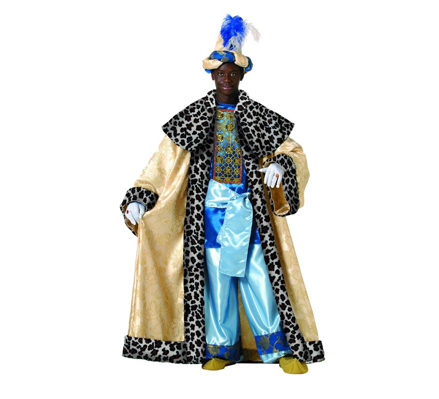 Traje o Disfraz de Rey Mago Baltasar adulto de alta Calidad