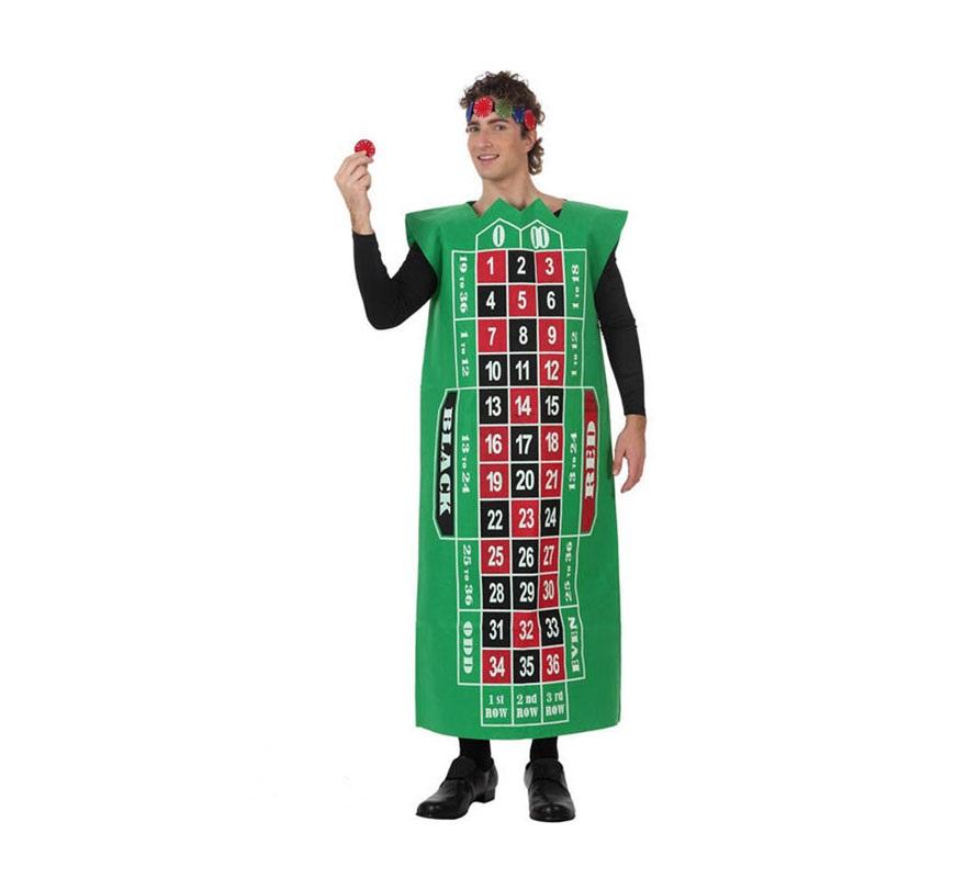 Disfraz de Tablero Ruleta de Casino para adultos