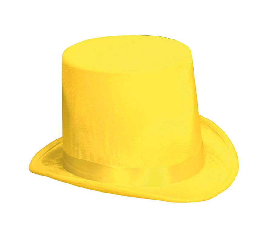 Chistera o Sombrero de Copa de Terciopelo amarillo a113d7fd8ab