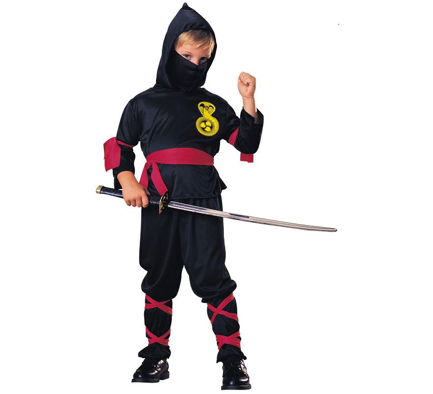 disfraz de ninja negro adulto - Barullocom