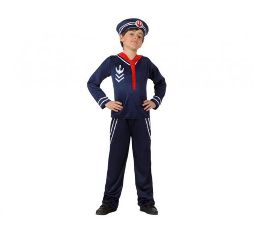 Disfraz de marinero azul para ni os - Disfraz de marinero casero ...