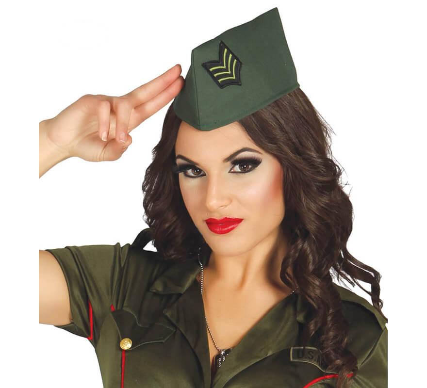 ahorre hasta 80% nuevo autentico venta más barata Gorro Militar de color verde con insignia