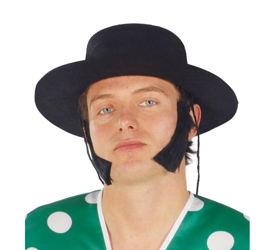 Sombrero de Cordobés flocado negro