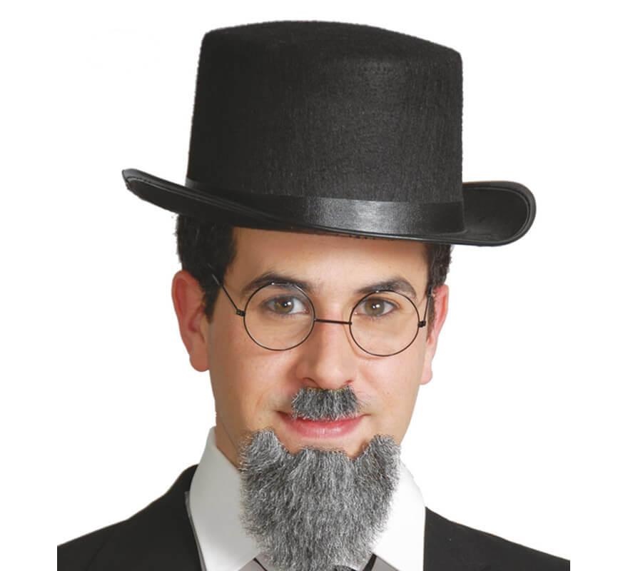 Sombrero de Copa o Chistera de fieltro negro 05e204268a3