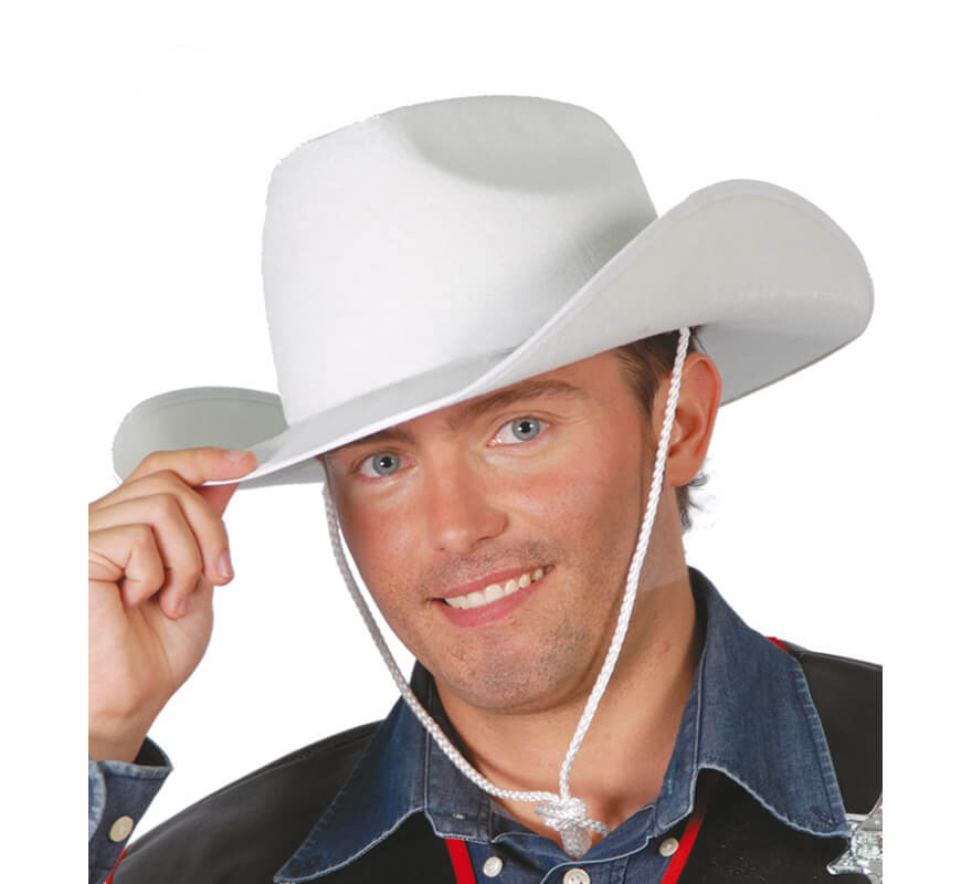 Sombrero Vaquero o Cowboy de fieltro blanco e8a315f5731