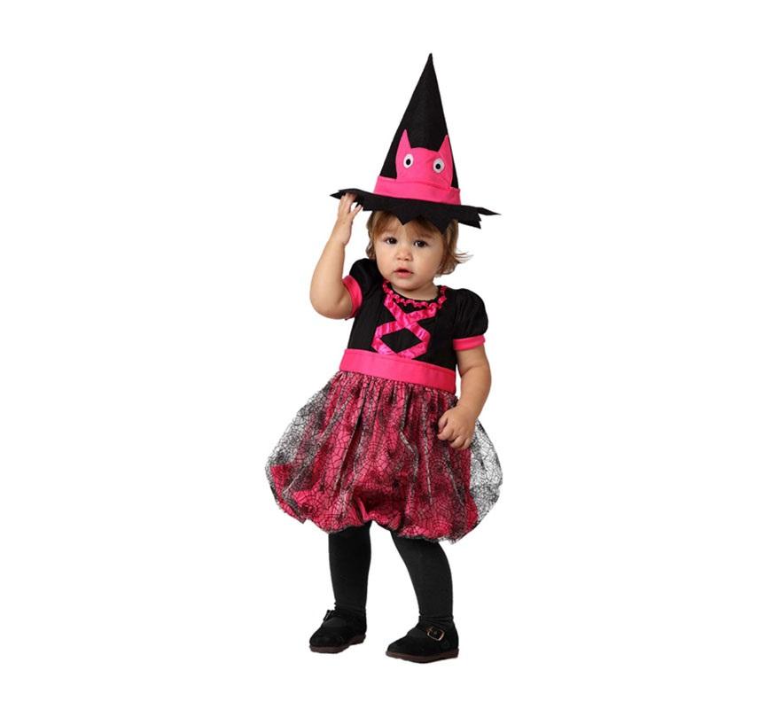 Disfraz De Bruja Rosa Para Bebes - Disfraz-de-bruja-para-bebe