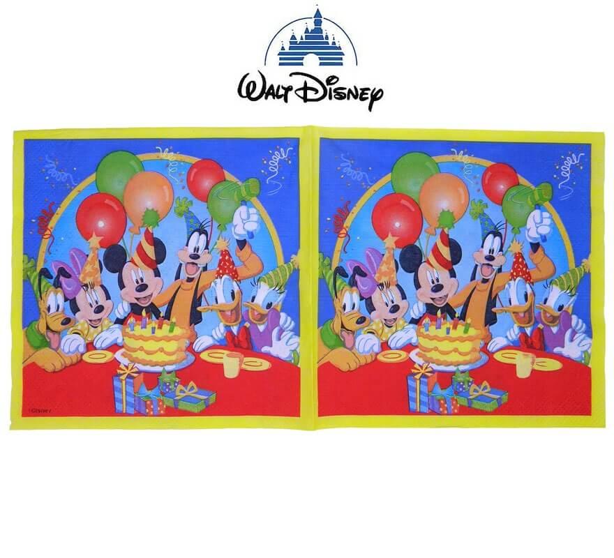 Bolsa de 20 servilletas Mickey party.