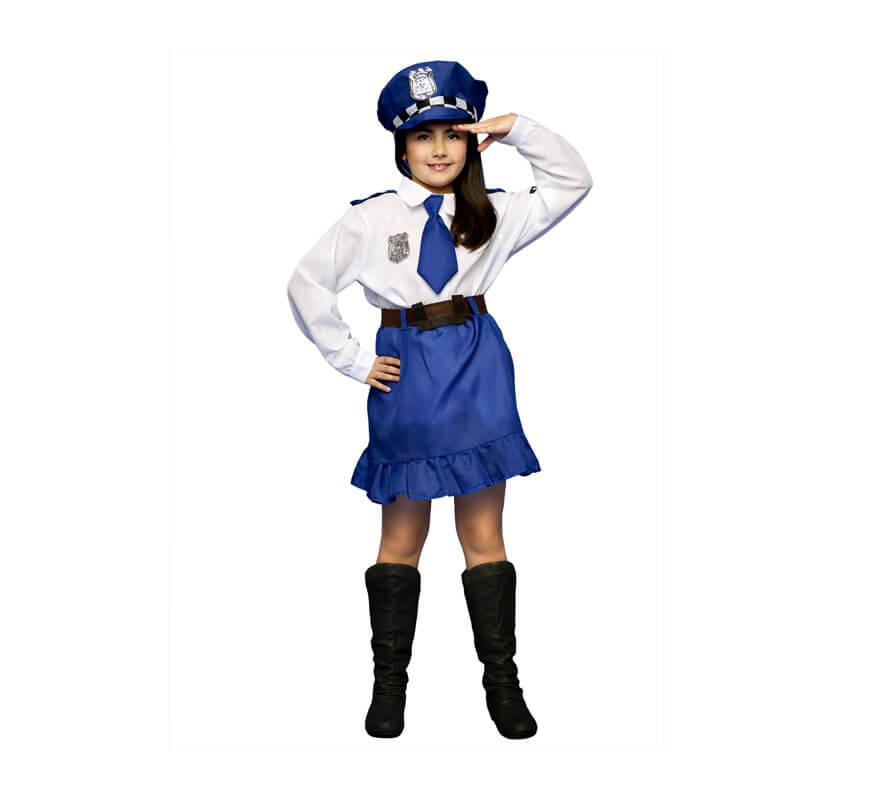 b10305066 Disfraz de Policía para niñas de 3 a 4 años