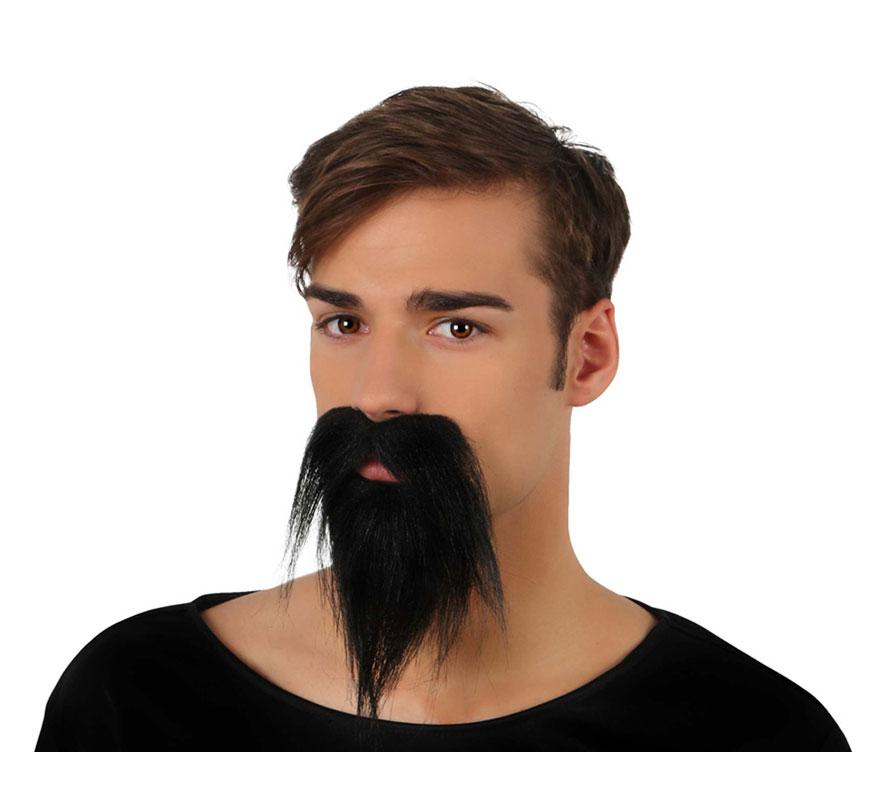Barbe et Moustache Noires de Pirate