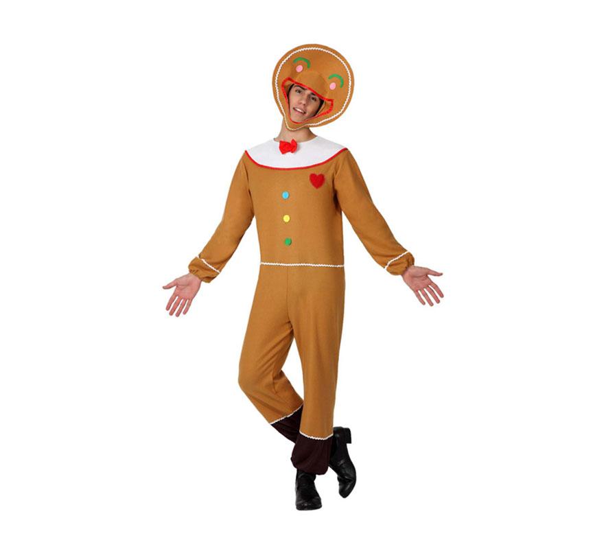 Disfraz de galleta de jengibre para hombre talla m l for Hombre de jengibre