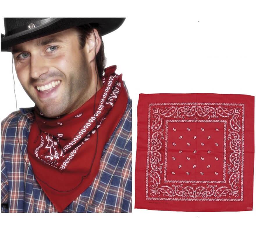 Pañuelo de Cowboy Roja con estampado