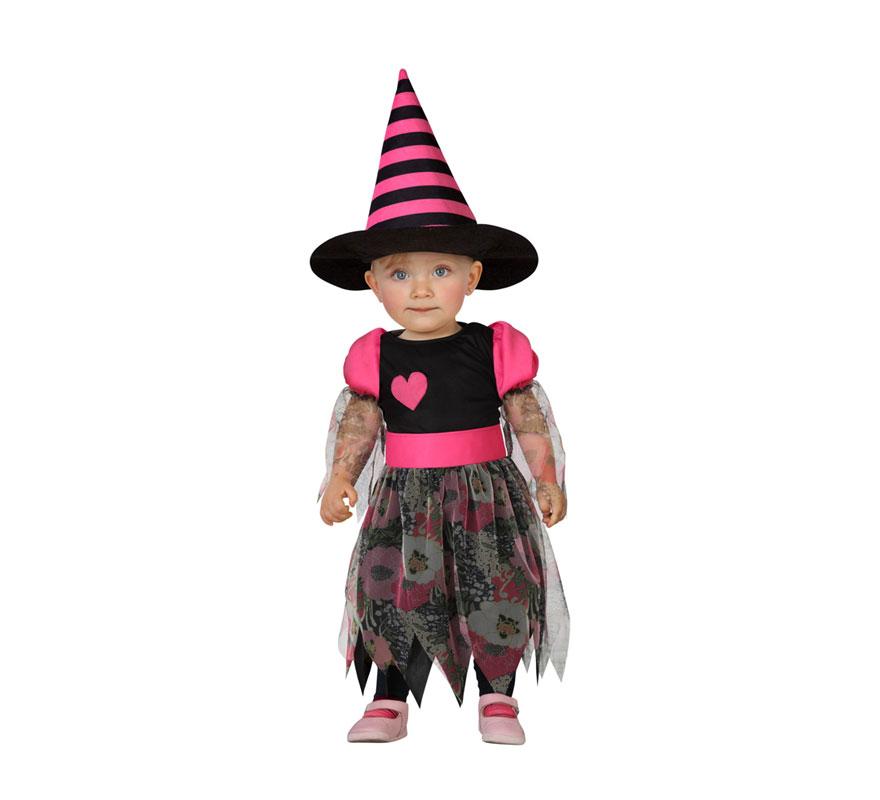 Disfraz De Bruja Rosa Con Corazon De Bebes - Disfraz-de-bruja-para-bebe