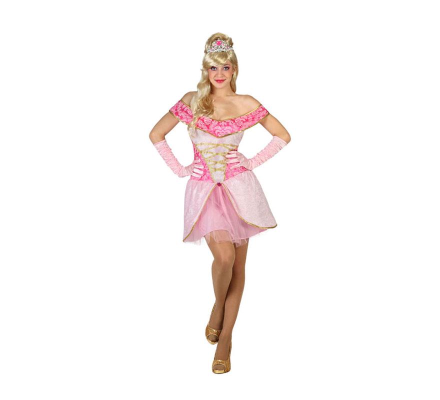c8d96918b Disfraz de Princesa Bella rosa para mujer