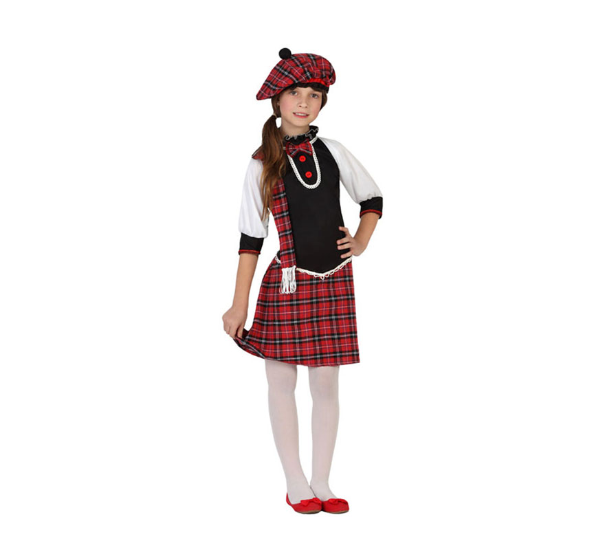 Disfraz para niñas de Escocesa 2227bb6efff
