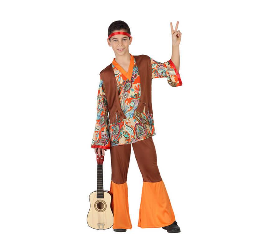 407a47bbc Disfraz para niños de Hippie Estampado
