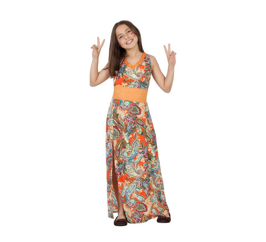 e0504981c Disfraz para niñas de Hippie Estampada