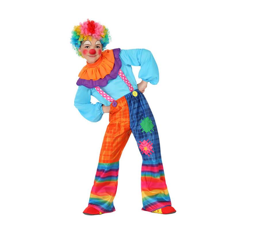 Disfraces de Payaso Circo Arlequines y Bufones para Nio 24H