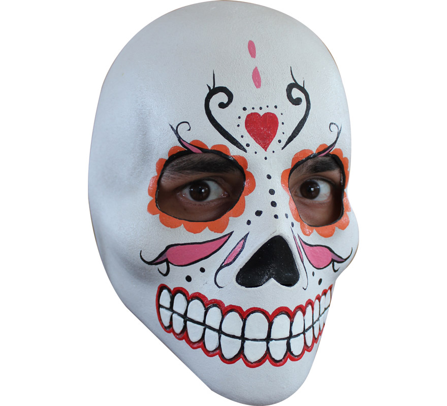 M scara de catrina de l tex para halloween for Caretas disfraces