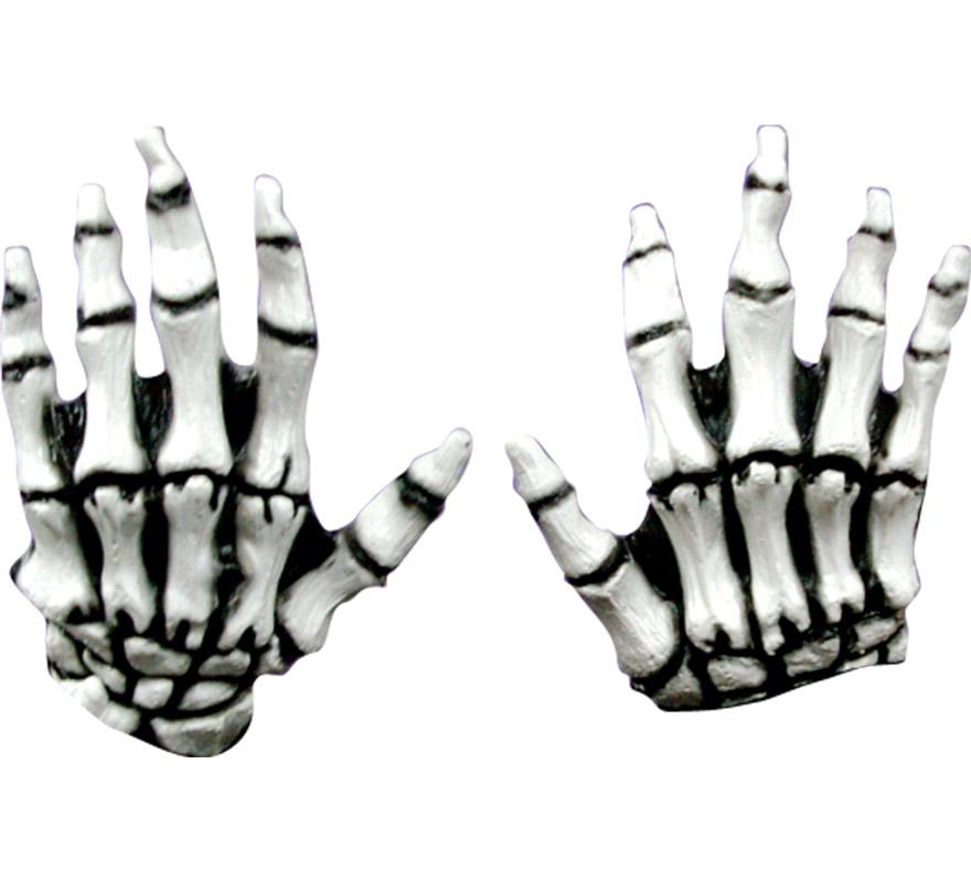 Manos de Esqueleto infantiles color blanco latex