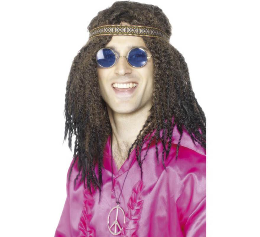 Kit Hippy Hombre: Cinta de Pelo, Gafas y Collar