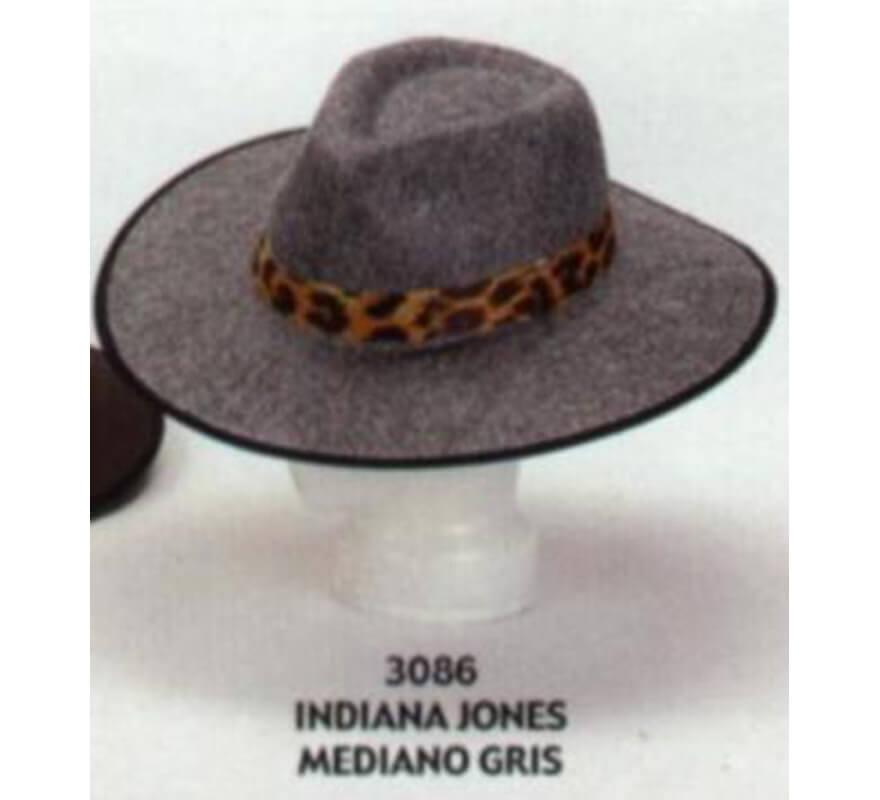 Sombrero de Indiana Jones mediano gris 80161381c58