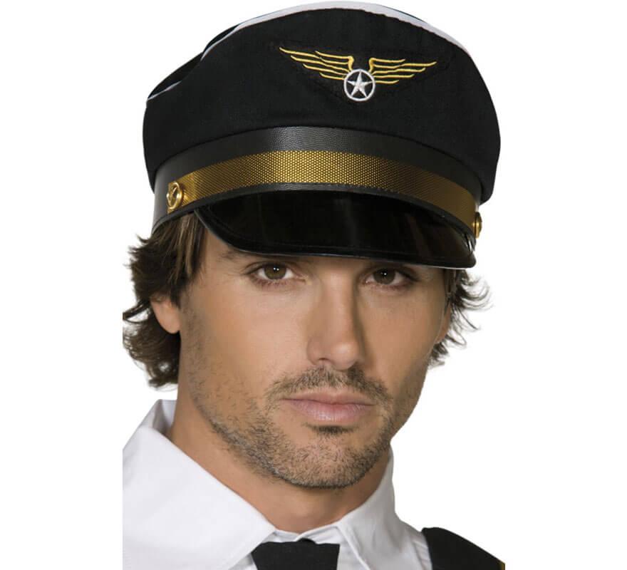 Gorra de Capitán de Vuelo Comercial color Negro con Insignia 05020570311790 5b0ee8c8ca7