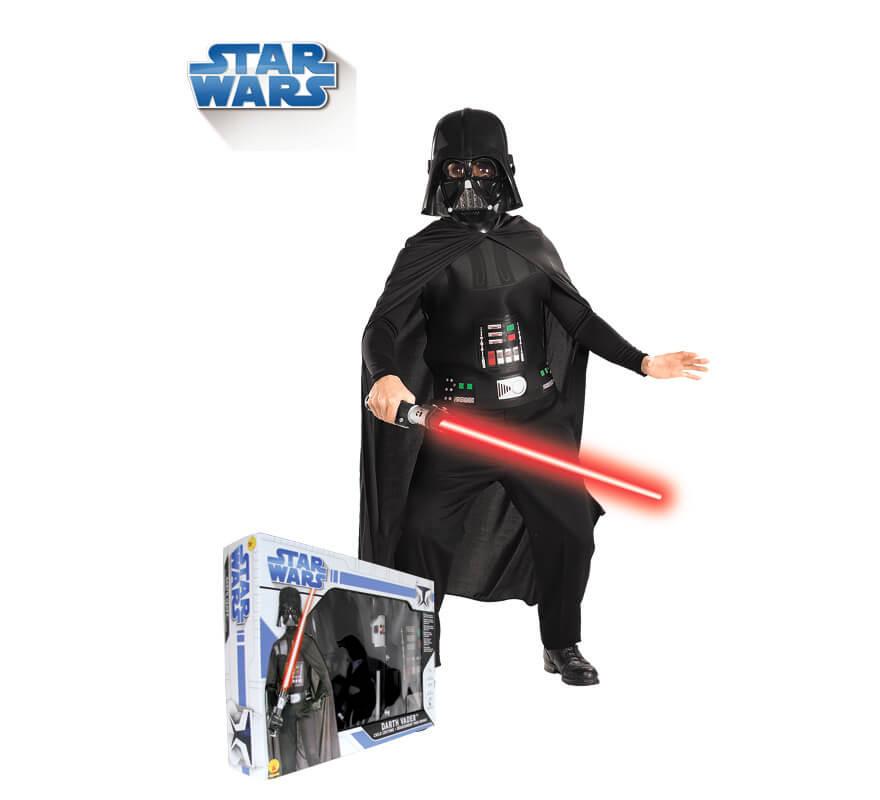 Disfraz Stront Negro de Star Wars con máscara para niño en caja