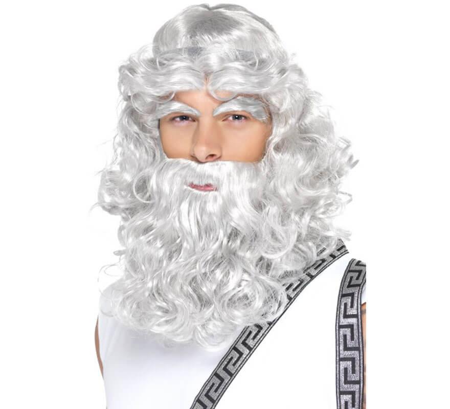 Peluca, Barba, Bigote y Cejas Dios Zeus