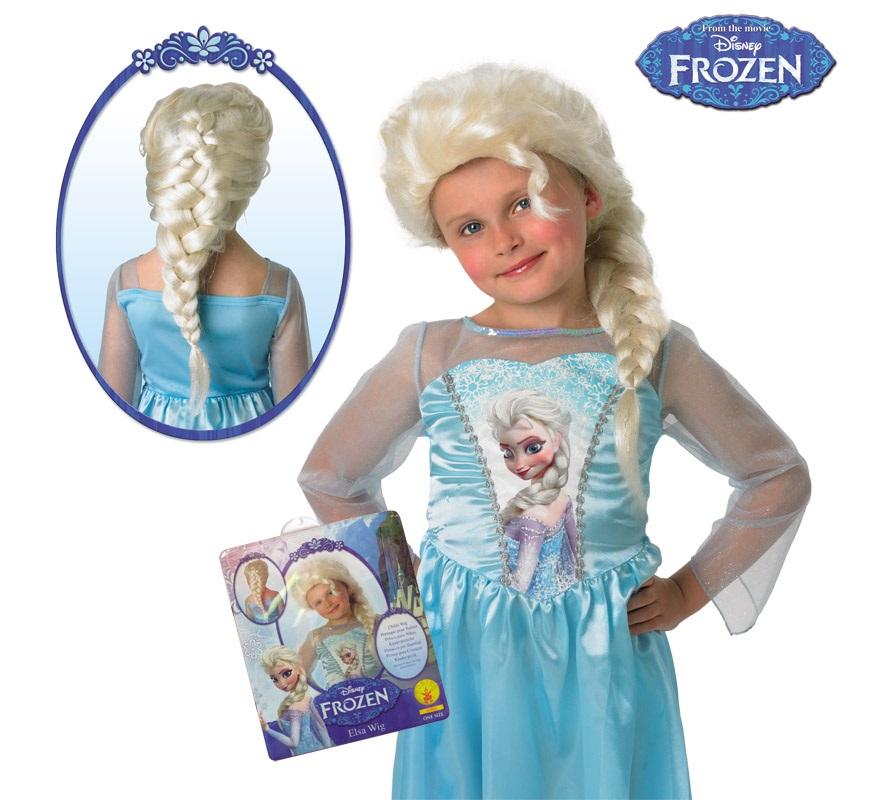 Peluca De Elsa De Frozen El Reino De Hielo Para Niña