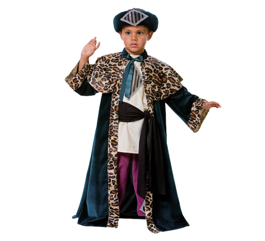 Disfraz Rey Mago Baltasar para nio