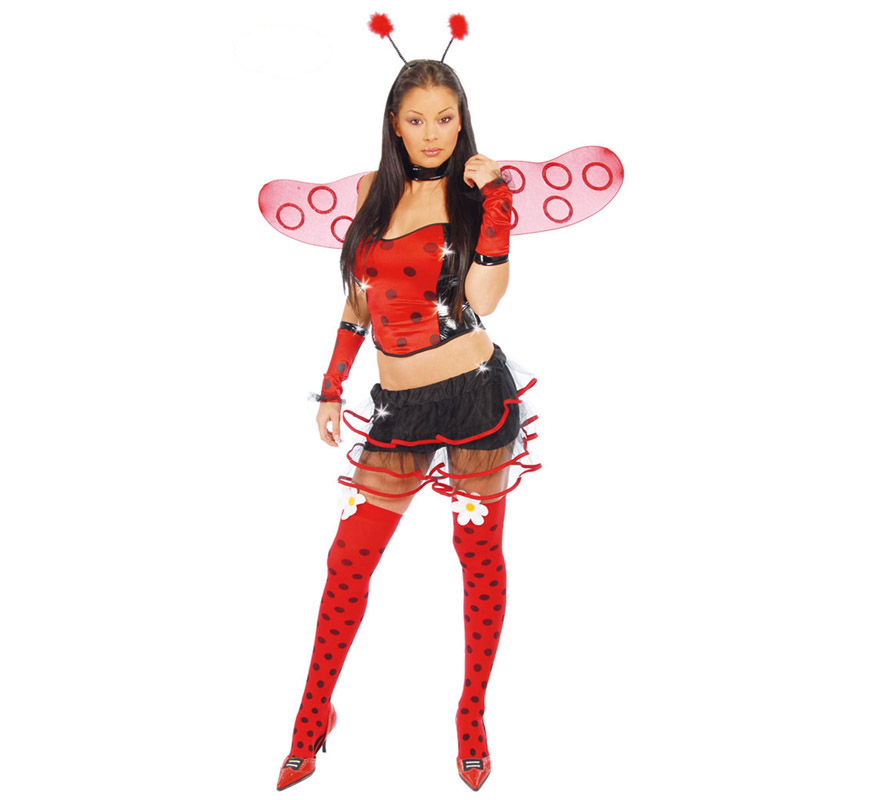 Disfraz mariquita super sexy para mujer en carnaval - Disfraz de mariquita de nina ...