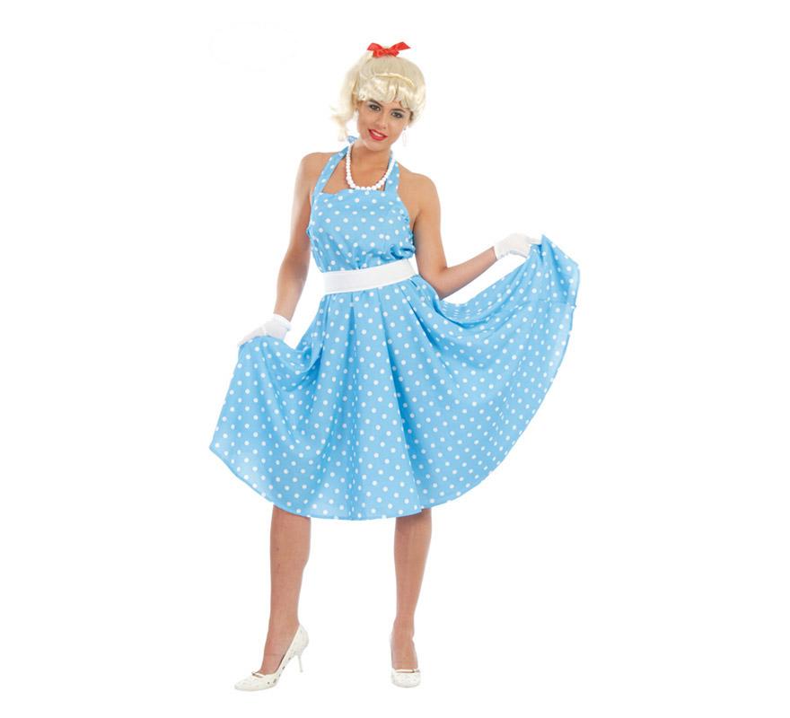 Disfraz barato de Chica de los años 50 o 60 para mujer c97b5be239b