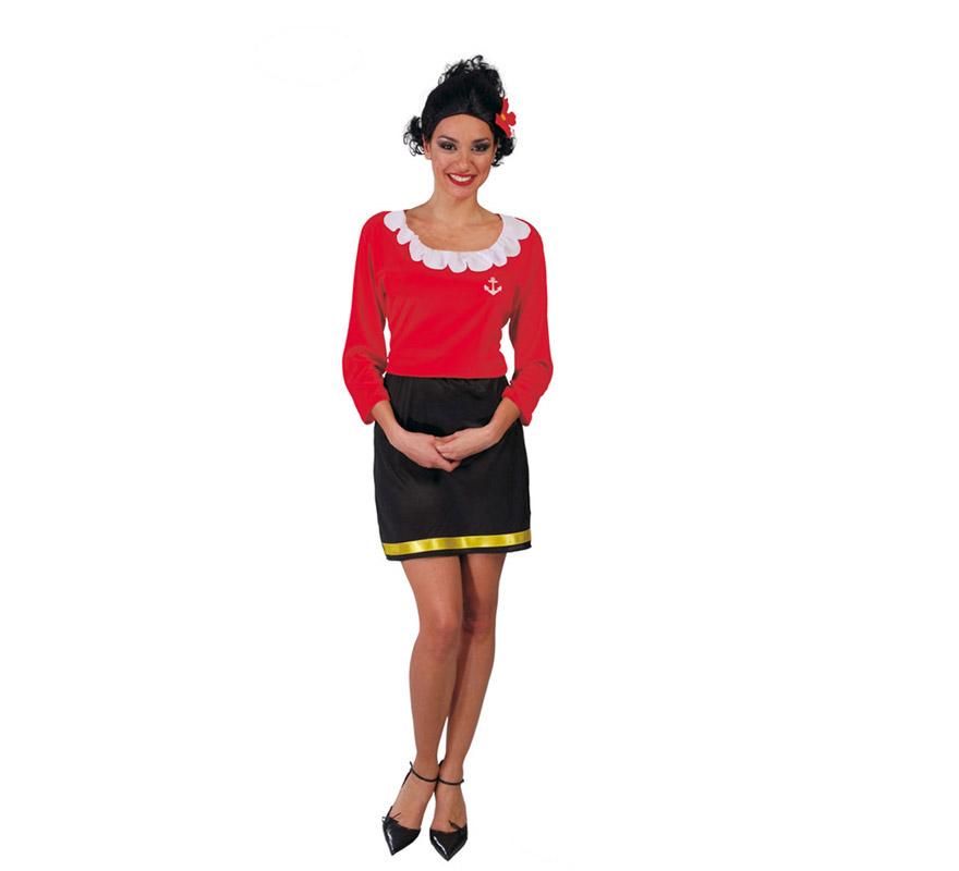 Disfraz de Olivia mujer de Popeye para chica