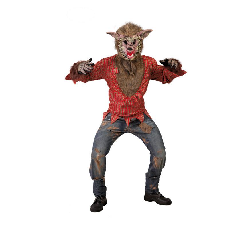 Disfraz de lobo feroz para halloween de hombre for Disfraz de lobo feroz