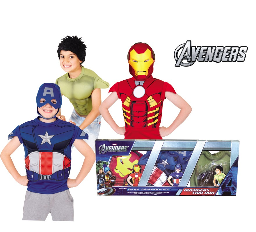 Disfraz de Los Vengadores 3 en 1 para niños 4 a 6 años