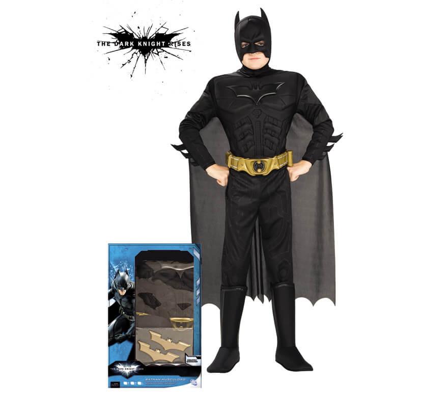 Disfraz de Batman TDK musculoso de niño