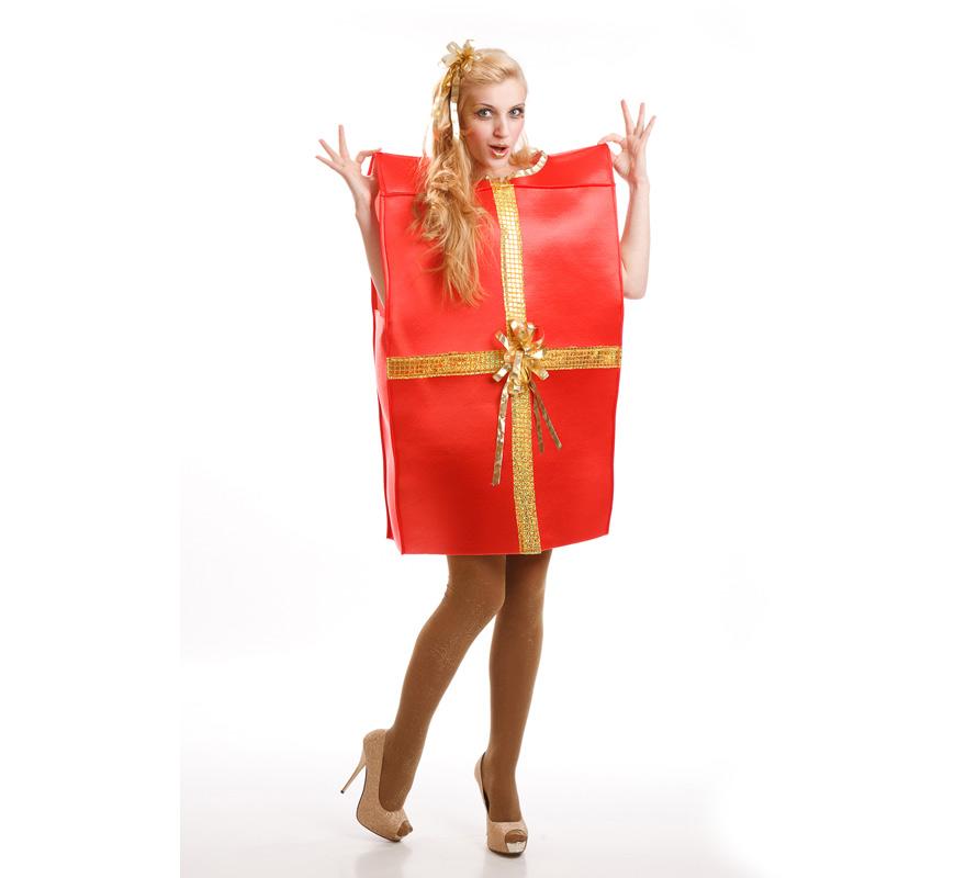 Disfraz de caja de regalo para adultos - Disfraces navidenos originales ...