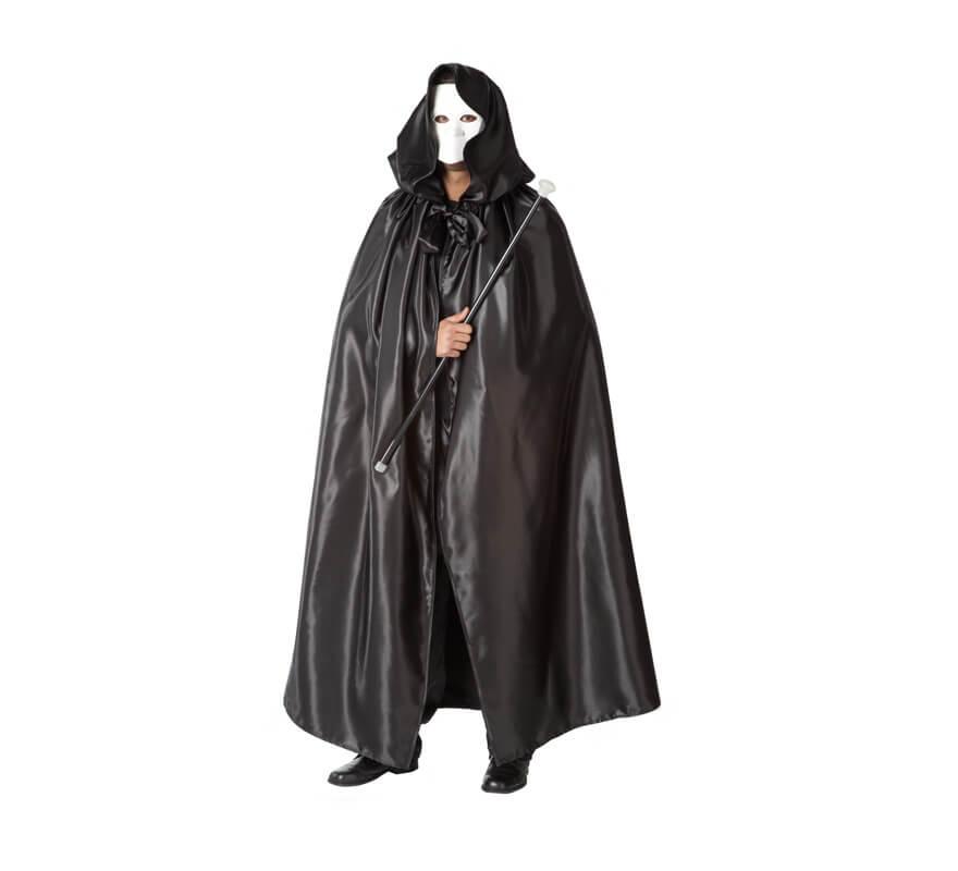 Capa negra adulto con capucha
