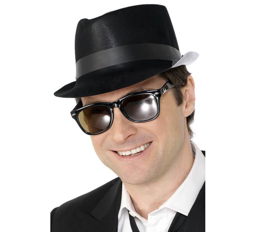 7808038956e49 Sombrero de Blues Negro con Alas dobladas
