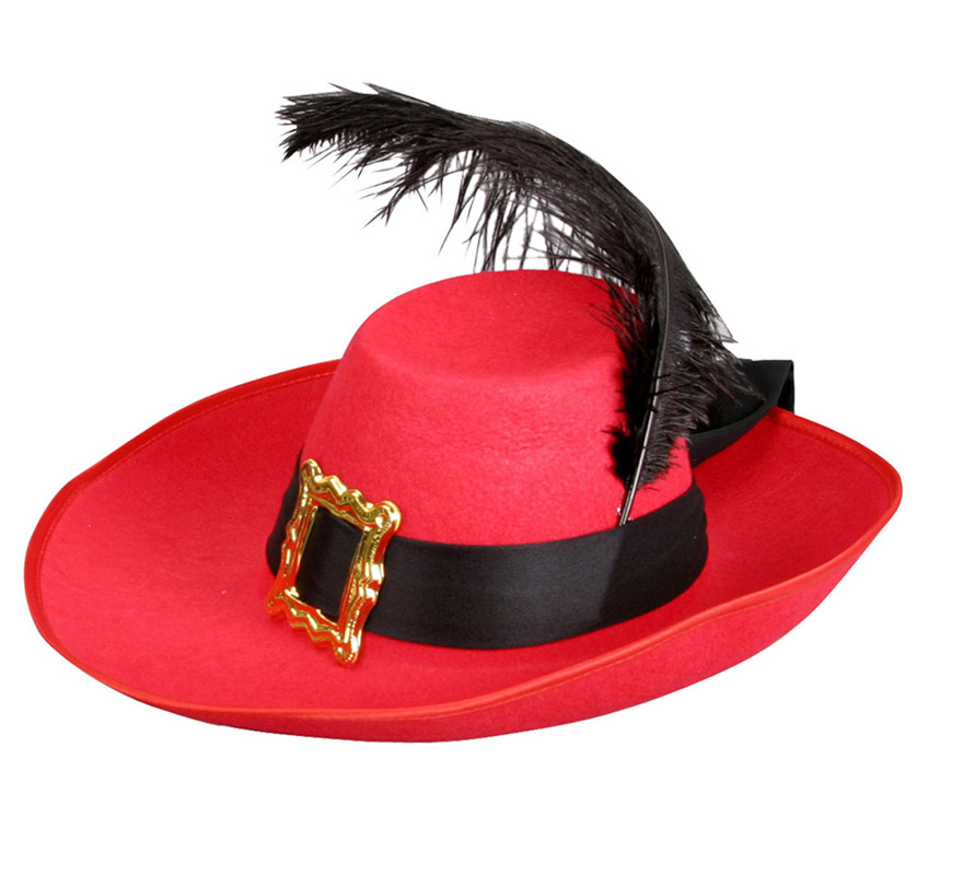 1da11689 Sombrero de Mosquetero de Terciopelo con pluma 08435408216258 ...