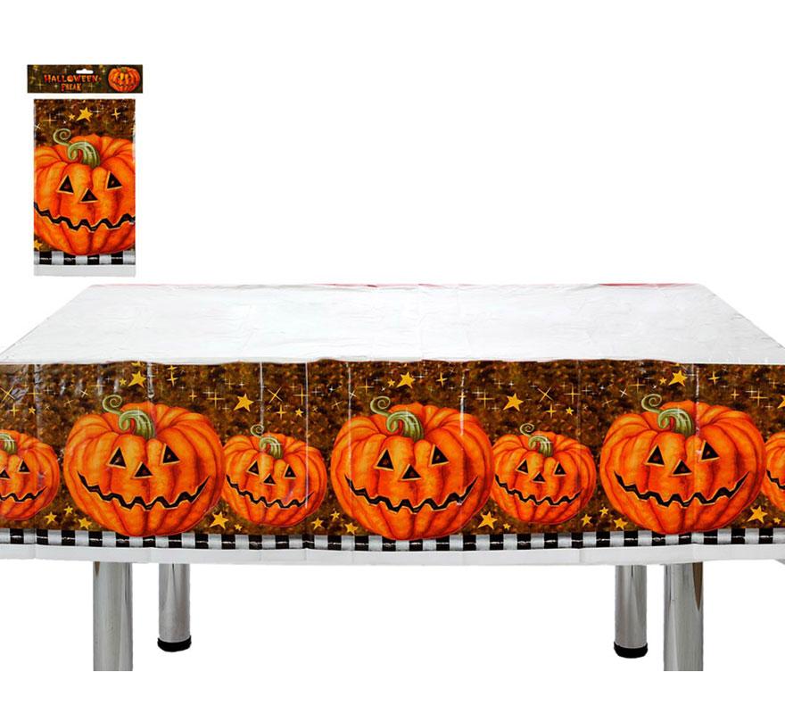 Nappe citrouille 135x180 cm pour d coration halloween - Decoration citrouille pour halloween ...