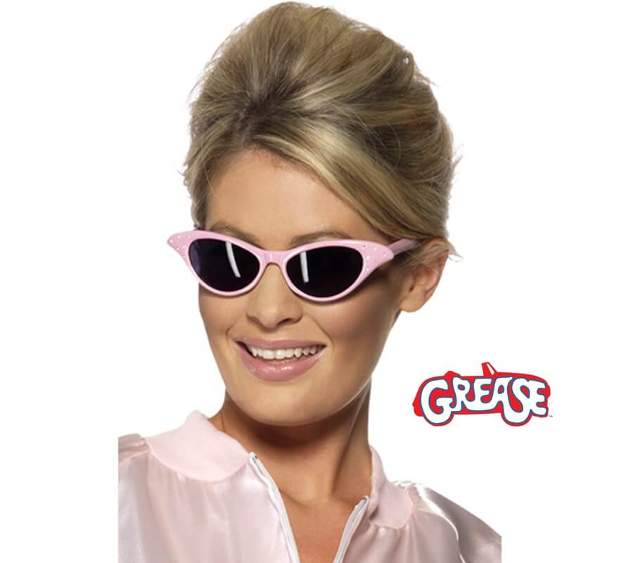 Gafas de Sol Rock and Roll de Grease rosa 44dc812098