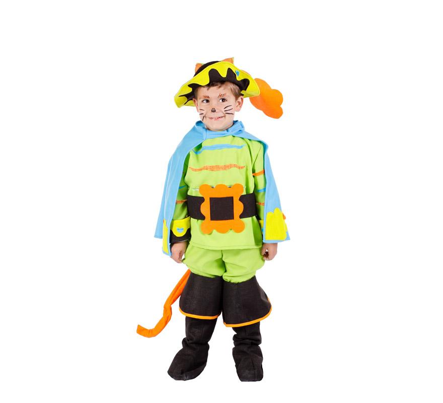 Disfraz el gato con botas para ni os varias tallas - Disfraces de gatos para ninos ...