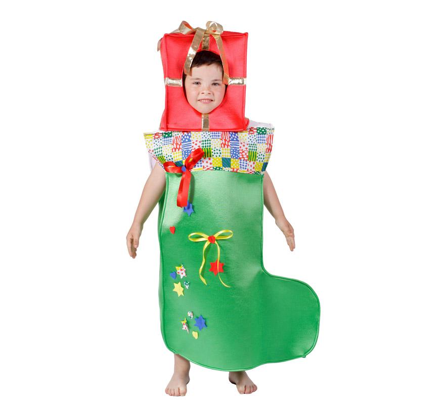 Disfraz de calcet n o bota de navidad para ni os - Disfraces para ninos de navidad ...