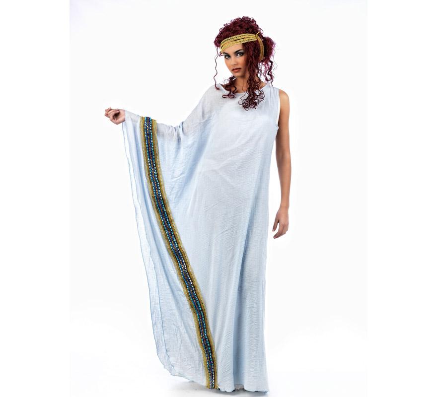 Disfraz de Helena de Grecia Deluxe azul claro para mujer