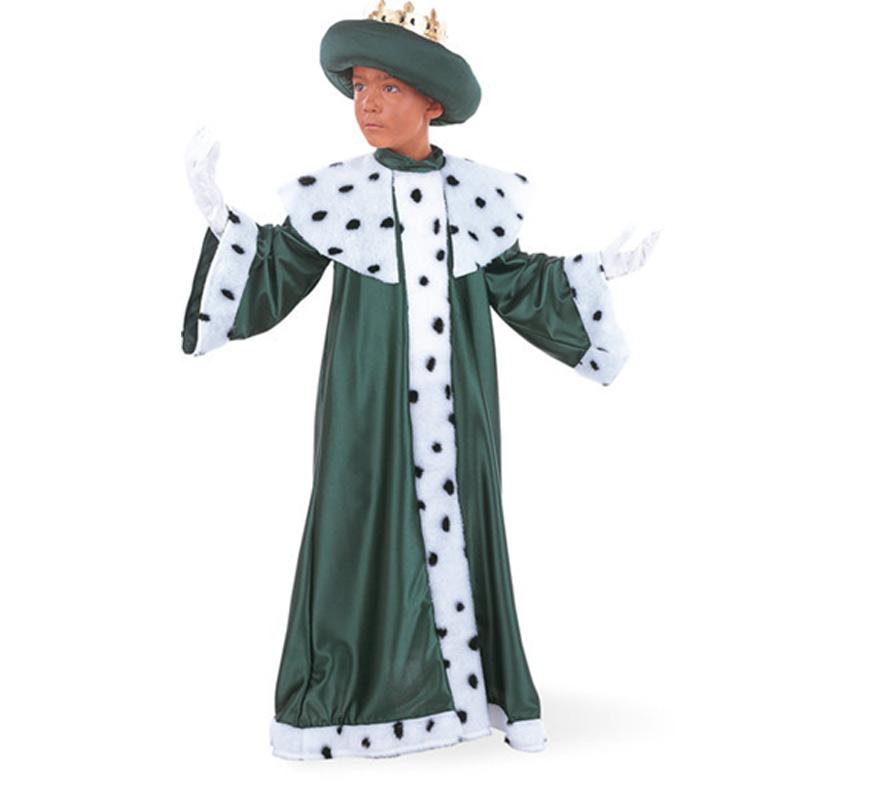 Disfraz de Rey Mago Baltasar Deluxe para nio