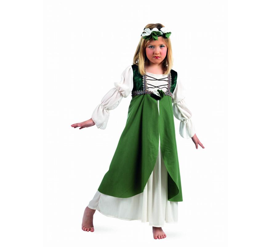 Déguisement Clarisse Médiévale vert enfants (plusieurs tailles)