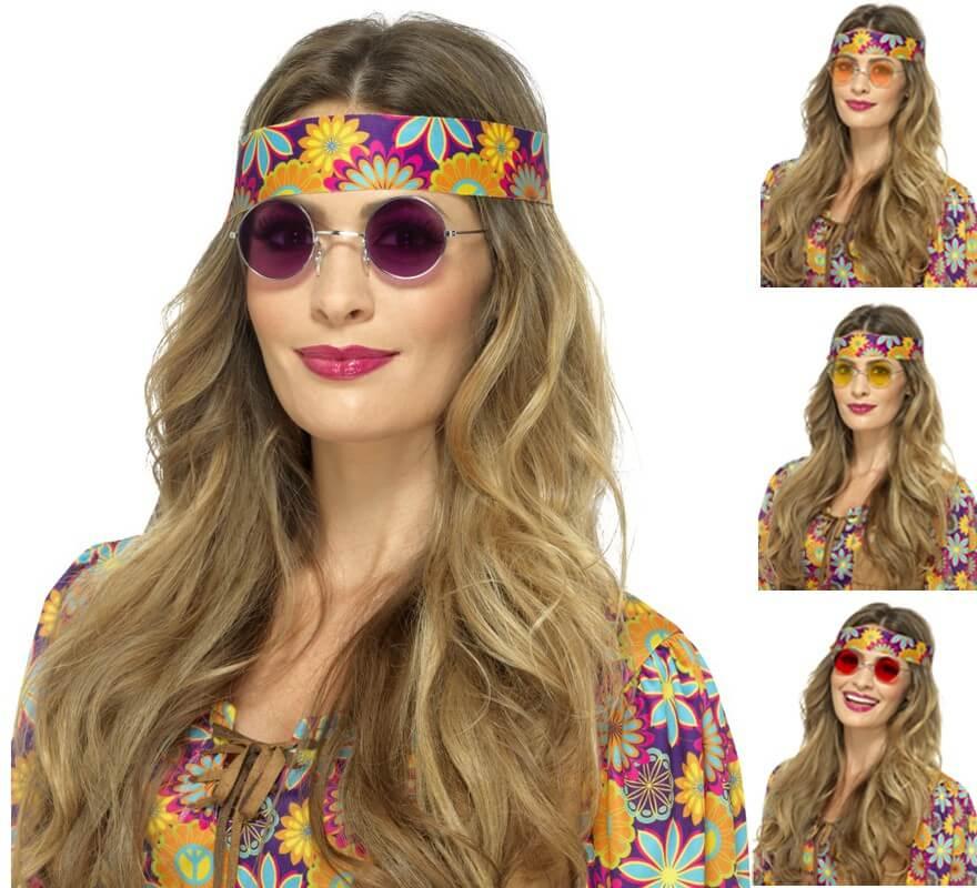 90b6672af30703 Lunettes Hippies Rondes plusierus couleurs