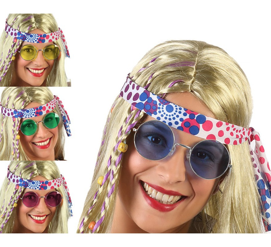 b51f100b2f Gafas Redondas Hippie en 4 colores surtidos